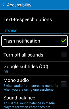 Flashlight notification app for android iPhone